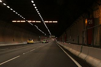Burnley Tunnel - Driving through the tunnel in 2010