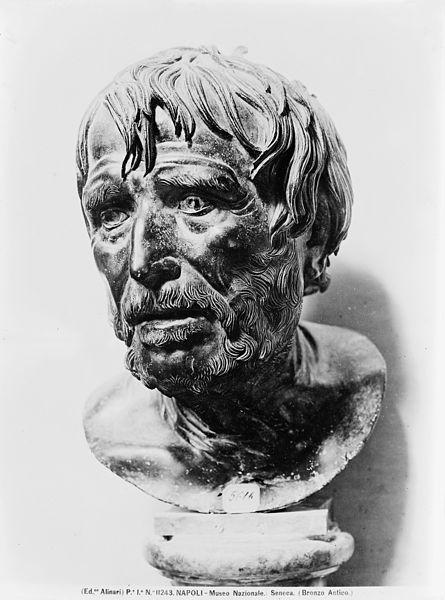 Buste du philosophe romain Sénèque.