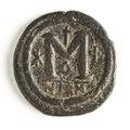 Bysantinskt bronsmynt, Justinianus - Skoklosters slott - 110672.tif