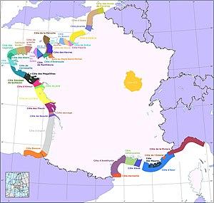 Côte Fleurie - Image: Côtes de France