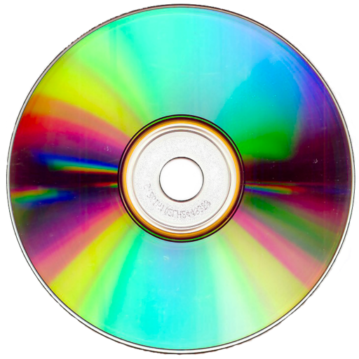 Image of a CD-ROM with rainbow gradient.