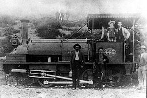 CGR 1st Class 0-4-0ST 1875 - CGR 1st Class 0-4-0ST no. 445, c. 1885 (Possibly ex CGR no. W45, later no. 525)