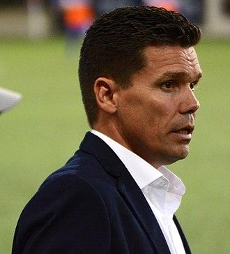 Alan Koch (soccer) - Koch coaching FC Cincinnati in 2017