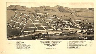 Salida, Colorado - Map of Salida, 1882
