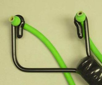 "Slingshot - The ball-in-band attachment method used by the recalled Daisy ""Natural"" line of slingshots."