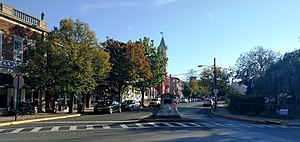 County Route 528 (New Jersey) - CR 528's western terminus in downtown Bordentown