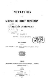 Cadoz - Initiation à la science du droit musulman, 1868.djvu