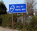 Call 511 travel info sign.jpg