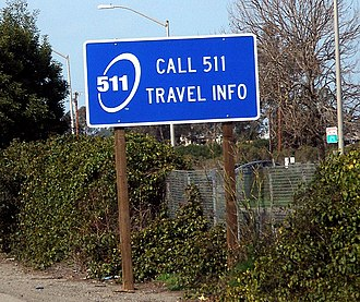 5-1-1 - The logo on a road sign