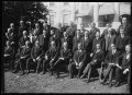Calvin Coolidge and group outside White House, Washington, D.C. LCCN2016886909.tif