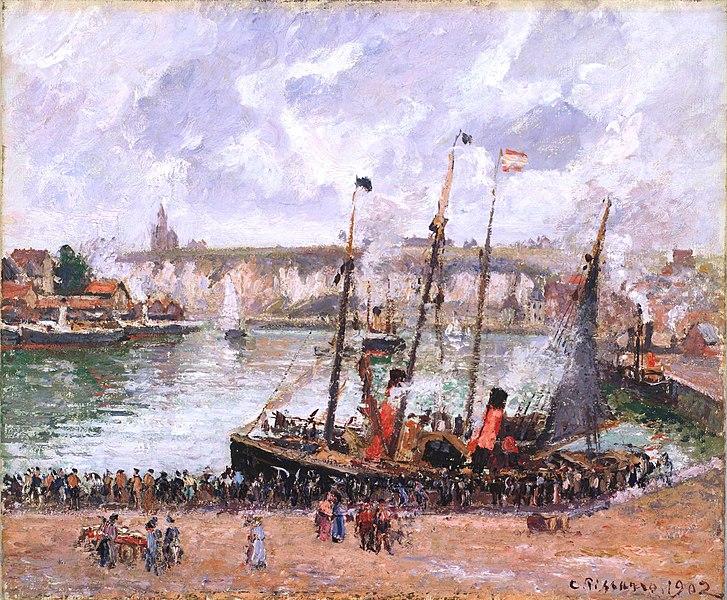 File:Camille Pissarro - Port de Dieppe.jpg
