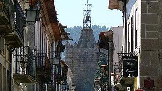Caminha - Caminha - Rua Direita, main street of the medieval old town.