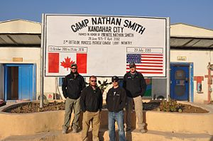 Camp Nathan Smith - Camp entry sign.