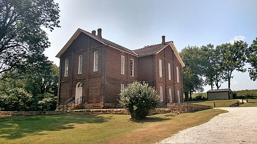 Cane Hill College was founded in Cane Hill one day after Arkansas College in Fayetteville. It was in operation from 1834 to 1891. Campus of Cane Hill College 001.jpg