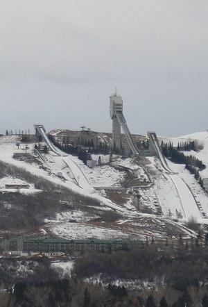Canada Olympic Park - Calgary Olympic Park Ski Jumping facility in February