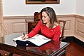 Canadian Foreign Minister Chrystia Freeland signs the Department of State Guest Book - 2018 (28175736828).jpg