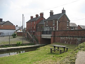 Llanymynech - The Montgomery Canal passing through Llanymynech