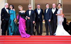 Jane Fonda - Fonda with the director and stars of Youth at the 2015 Cannes Film Festival.