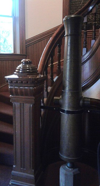William S. Clark - A brass cannon captured by the 21st Massachusetts Infantry, led by Clark during the Battle of New Bern. It is here shown in Morgan Hall at Amherst College.