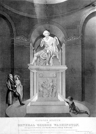 George Washington (Canova) - Image: Canova's Statue of General George Washington, lithograph by Newsam