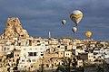Cappadocia balloon trip, Ortahisar Castle (11893793775).jpg