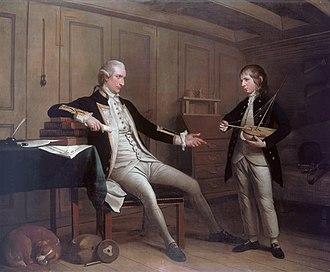 William Bentinck (Royal Navy officer) - Captain John Bentinck (1737–1775) and his son, William Bentinck (1764–1813), by Mason Chamberlin.