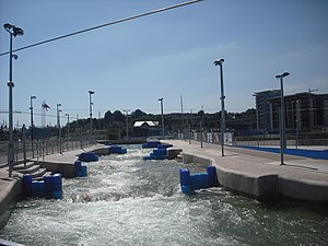 Cardiff International White Water - The top third of the whitewater river.