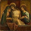 Carlo crivelli, pietà del 1470 circa, con ampi rifacimenti di luigi cavenaghi.jpg