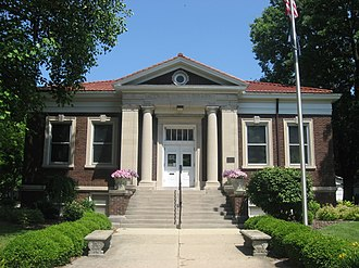 National Register of Historic Places listings in Fountain County, Indiana - Image: Carnegie Library of Covington