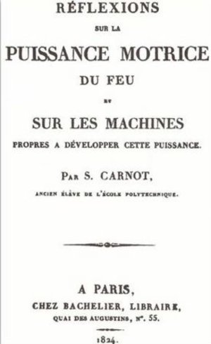 Reflections on the Motive Power of Fire - Title page of the 1824 French first edition.