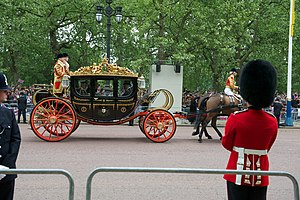 Australian State Coach - The Australian State Coach in use for the wedding of the Duke and Duchess of Cambridge, 2011.