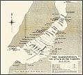 Carte anglaise de l attaque des cuirasses dans le detroit des Dardanelles le 18 mars 1915.jpg