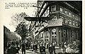 Carte postale - 21 - PARIS - L'appareil de LEBLANC vainqueur du circuit de l'Est (6 au 16 août 1910) exposé boulevard Poissonnière sur la façade du journal Le Matin - Recto.jpg