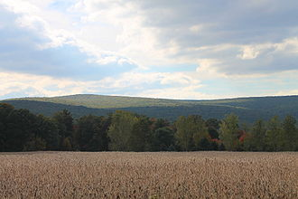 Main Township, Columbia County, Pennsylvania - Catawissa Mountain from Fisher Run Road in Main Township