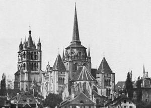 The City in the Autumn Stars - Image: Cathédrale Lausanne 1873 1