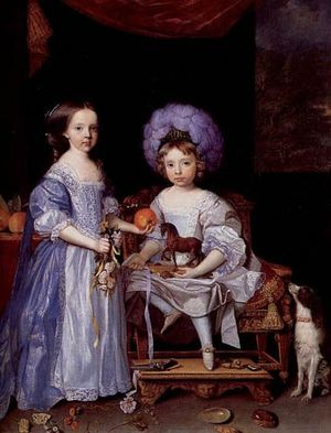 James Cecil, 4th Earl of Salisbury - James Cecil and his sister Lady Catherine by John Michael Wright, 1669