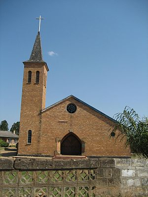 Image:Catholic church in mansa