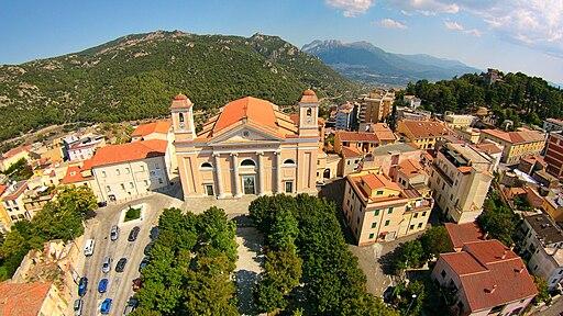 Cattedrale di Santa Maria della neve, Nuoro, vista dal drone