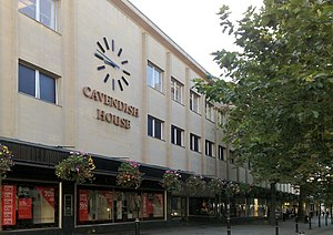 Cheltenham - Cavendish House department store on the Promenade.