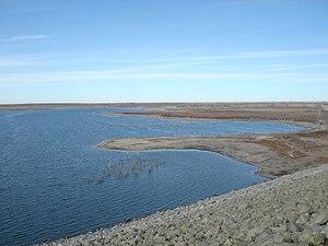 Cedar Bluff Reservoir - Image: Cedarbluffreservoir 2