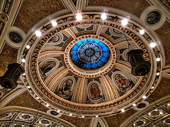 The ceiling at Saint Joseph's Cathedral Basilica. Ceiling, St. Joseph's Basilica.jpg