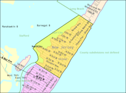 Census Bureau map of Surf City, New Jersey