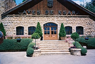 Lebanese wine - The wine making headquarters of Château Ksara, in Bekaa, Lebanon