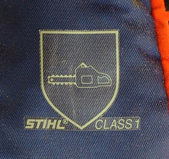 Chainsaw safety clothing - Logo for fabric