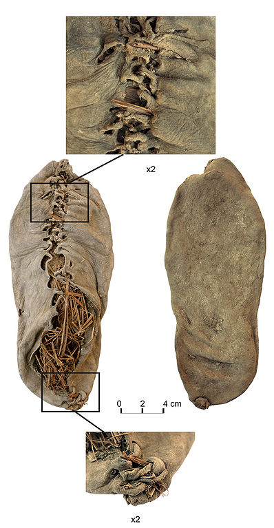 La plus vieille sandale de l'humanité (source : Wikipedia)