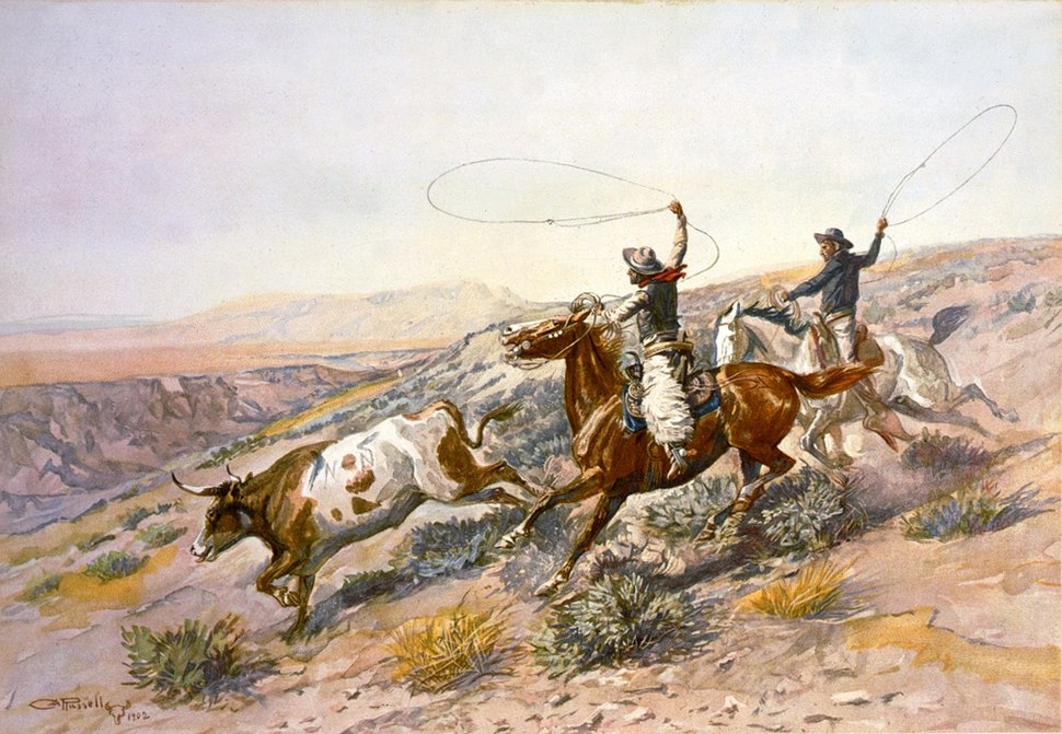 Charles Marion Russell - Buccaroos (1902)