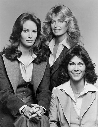 Jaclyn Smith - Smith (left) with Farrah Fawcett and Kate Jackson in Season 1 of Charlie's Angels