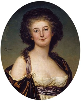 "Charlotte Eckerman - ""Mademoiselle Charlotte Eckerman"" (1784) painted by Adolf Ulrik Wertmüller. It is believed that the painting was ordered by Gustaf Mauritz Armfelt, with whom she had a relationship at the time."