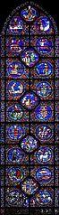 vitrail du zodiaque à Chartres
