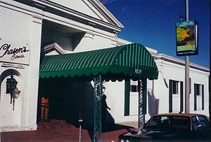 Chasen's - Chasen's entrance from Beverly Blvd. October 1997